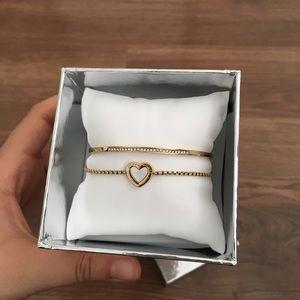michael kors heart bracelet set